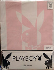 SINGLE BED PLAYBOY FITTED VALANCE SHEET WHITE PINK GIRLS POLY COTTON SOFT TOUCH