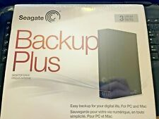 Seagate Backup Plus 3TB Desktop Drive PC Mac USB 3.0 NEW SEALED in Box