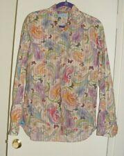 Mens AteSeta Floral Butterfly Trippy Print Button Down Shirt Cream multi 41/16