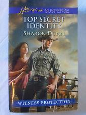 Top Secret Identity by Sharon Dunn (2014, Love Inspired, Paperback) Like NEW