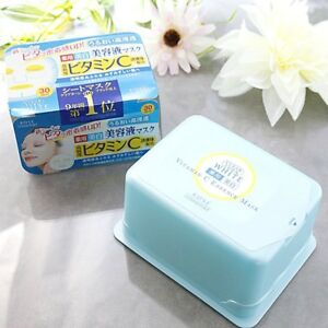 ☀Face Mask KOSE CLEAR TURN Essence Vitamin C with 30 time From Japan F/S
