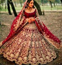 Red Indian Pakistani Lehenga Choli Shadi Dress Bridal Jora New Traditional Gown