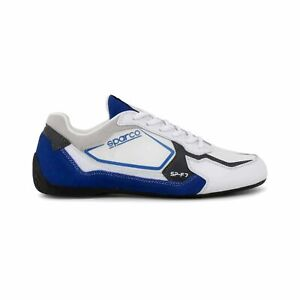 Sparco SP-F7 White/Blue Shoes Sneakers