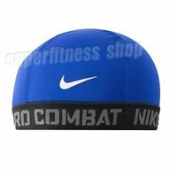 Nike Pro Combat Dri-Fit Youth Banded Skull Cap, Blue