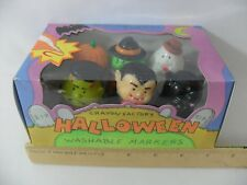 NEW! RETRO CRAYON FACTORY HALLOWEEN WASHABLE MARKERS SET DRACULA CAT GHOST WITCH