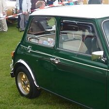 Classic Mini RACING GREEN Graphics set of 3 Silver/White FREE P+P UK shop