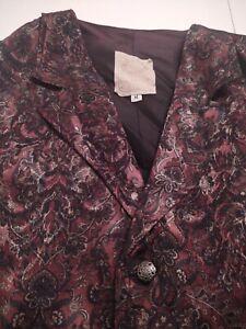 WAH Maker Men's Western Style Rayon/Polyester Medium MULTI-COLOR FLORAL Vest