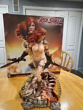 Used Missing parts, Red Sonya, Sideshow, Custom Topless/Nude Statue