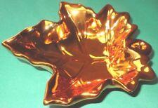 Dekoschale Schmuckschale Ahornblatt ca. 17 x 15 x 4 cm Keramik rotgold NEU