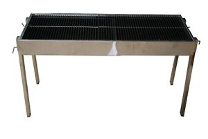 STAINLESS STEEL EXTENDABLE COMMERCIAL CATERING CHARCOAL BBQ - SECONDS