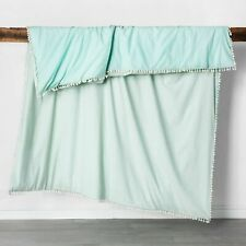 Opalhouse Duvet Cover Set Twin XL Yarn Dyed Tassel Green New