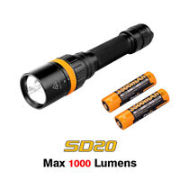 Fenix SD20 Cree XP-L2 U2 LED Scuba Diving Flashlight Torch + 3500mAh Battery