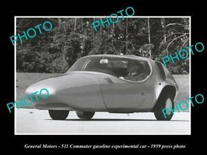 OLD 8x6 HISTORIC PHOTO GENERAL MOTORS 511 COMMUTER CONCEPT CAR PRESSPHOTO 1959