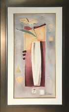 Abstract Floral by Alfred Gockel (Framed Flowers Vase Original Painting Fine Art
