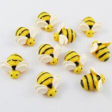 10pcs DIY Resin Bumblebee Bee Cabochon 19x19mm Flat Back Scrapbooking Hair Clips