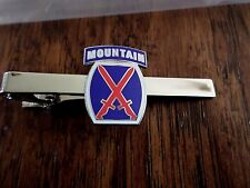 U.S MILITARY U.S ARMY 10th MOUNTAIN TIE BAR OR TIE TAC CLIP ON TYPE U.S.A MADE