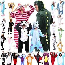 Adult Kids Fleece onesie1 Unisex Kigurumi-Animal-Pajamas-Costume-Sleepwear-Play-