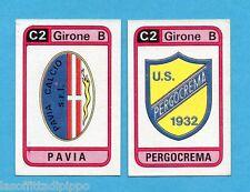 PANINI CALCIATORI 1983/84 -Figurina n.565- PAVIA+PERGOCREMA - SCUDETTO -Rec