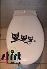 Generisch Retro Dots WC Deckel Aufkleber Wandtattoo Toilettendeckel Sticker Deko viele Farben Fliesen
