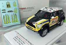 TrueScale TSM144343 Mini Countryman All4 #305, Roma 2nd 2012 Dakar, Resin  1/43