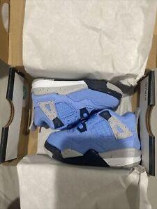 Jordan 4 toddler University Blue Size 7c Brand New With Box