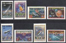 Gambia Nr. 818-825** Weltraumforschung