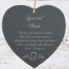 Personalised Mum Gift Slate Plaque Heart Symbol SLA210-6