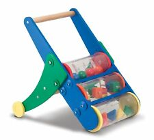 Melissa & Doug Rattle Rumble Wooden Push Toy and Activity Walker - New