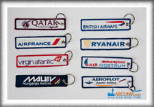60 designs - Custom made embroidered Airline/Aviation Keychain