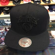 Mitchell & Ness New York Knicks NBA Snapback Hat Cap All Black/Black/GREY BOTTOM