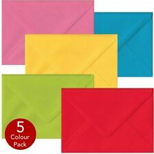 Economy Pack 50 Multi Coloured C6 Envelopes. Multi Colour A6 Gummed Envelopes