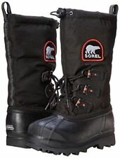 Youth Size 2 Sorel Glacier XT Winter Insulated -100F Waterproof Snow Boots Black