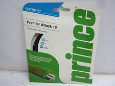 *New* 3 Sets Prince Premier Attack 16 (1.30) Black Multifilament Tennis String