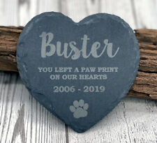 Personalised Pet Dog Heart Slate Grave Stone Dogs Memorial Plaque Grave Marker
