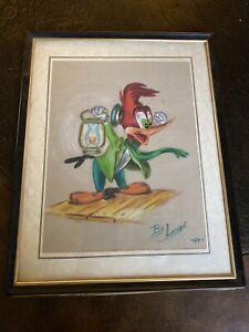 Woody Woodpecker Disney Palette Pastel Art Painting 1964 By Lloyd E Brodersen