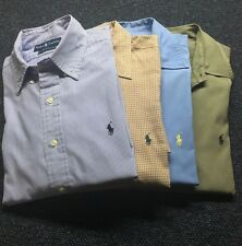 Ralph Lauren Dress Shirt Lot of 4 Long Sleeved Shirts Mens Size Large