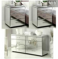 Rio Mirrored Bedside Tables & Dresser Package - Mirror Furniture