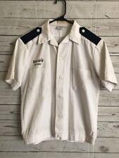 Vintage Harrah's Casino Uniform Valet Parking Attendant White/Blue Size Small
