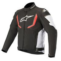 Alpinestars T-GP v2 Waterproof Motorcycle Motorbike Jacket Black White & Red