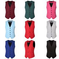 Men's Business Formal Waistcoat Slim Fit Wedding Prom Tuxedo Vest Coat