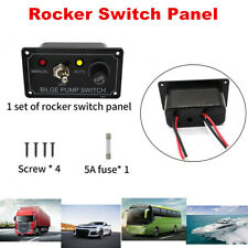 12 Volt Toggle 1 Gang Fused Marine Bilge Pump Switch Control ON/OFF Switch Panel