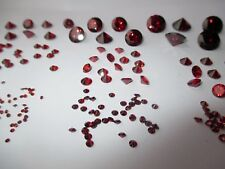 1 CZ Rot, red, 10 mm, rund, Brillantschliff Zirkonis synthetischer Edelstein.