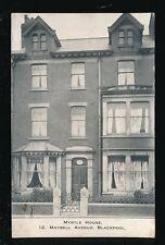 Lancashire Lancs BLACKPOOL Myrtle House Maybell Avenue advert PPC Used 1913