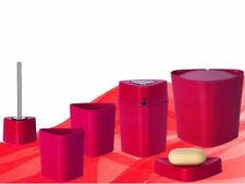 Spirella Trix Eco Bath Set Bathroom Assortment Red 5 Piece Branded Product Swiss