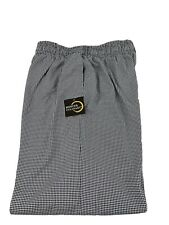 4X Chef Culinary Pants Houndstooth Check Black White 4Xl Nwt Mercer Pockets