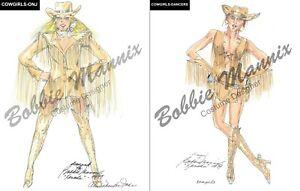 Xanadu Memorabilia Prints of Original Wardrobe Sketches 40th Anniversary Series