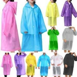 Kinder&Erwachsene Regenmantel Wasserdicht Regenjacke Regenponcho Kapuze Raincoat