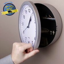 Wall Clock Hidden Safe Secret Jewelry Security Money Stash Compartment Box Hang