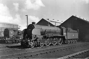 9x6cm Railway Negative 30453 King Arthur @ Eastleigh 26-8-1956 ( L Marshall Phot