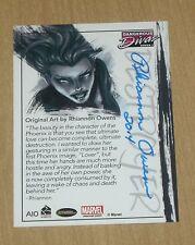 2014 Marvel Dangerous Divas series 2 Rhiannon Owens autograph Phoenix A10